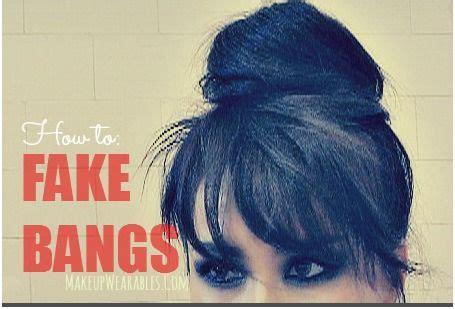 bangs hairstyles tutorial fake bangs bun tutorials and bangs on pinterest