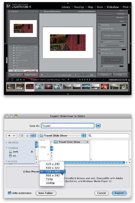tutorial adobe lightroom 4 pdf slideshow creating presentations of your work the adobe