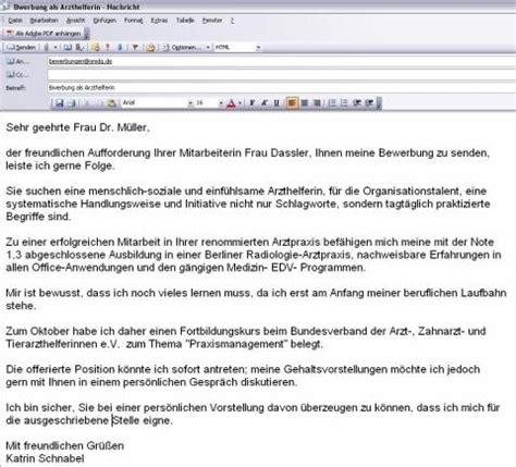 Anschreiben Bewerbung Email e mail bewerbung anschreiben beispiele