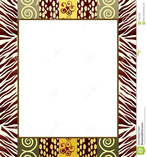 african pattern frame african style frame 2 stock photos image 17921493