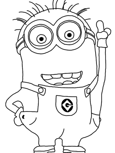 blank minion coloring page minion coloring pages party favors pinterest