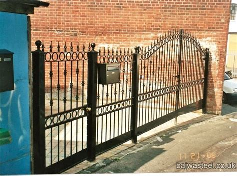 swinging gates for driveways bajwa steel driveway swing gates