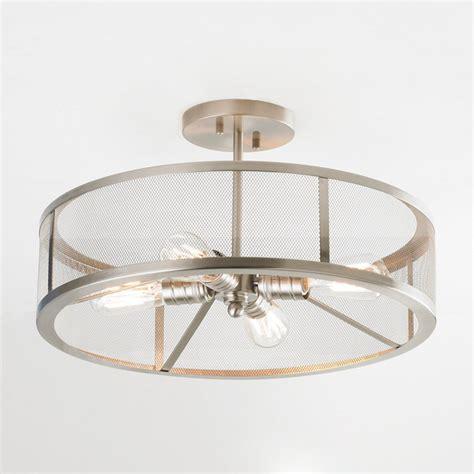 Semi Flush Mount Ceiling Lights by Mesh Industrial Semi Flush Mount Ceiling Light Shades Of