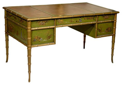 asian desk faux bamboo chinoiserie desk asian desks and hutches