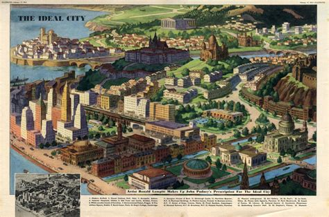Ideal Landscape History A Map Of The Ideal City Anno 1951 Big Think