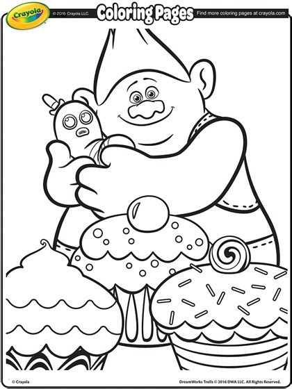 free coloring pages trolls trolls biggie and mr dinkles coloring page crayola com