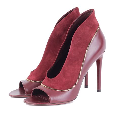Louis Vuitton Leather louis vuitton suede leather heels s 40 7 luxity