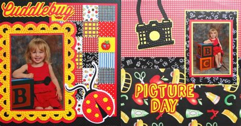 ladybug scrapbook layout scrapbook page picture day 2 page school layout with a