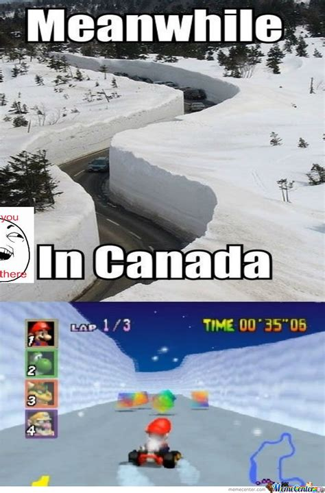 Canada Snow Meme - meanwhile in canada by drickzhie 06 meme center