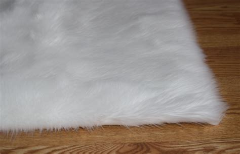 faux rug 5 x 8 white soft faux fur rug non slip anti