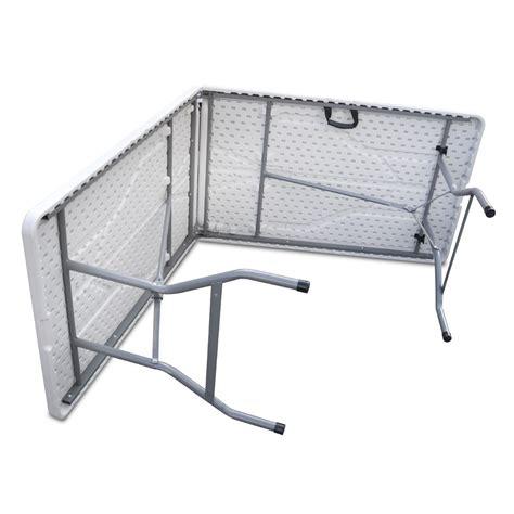 tavolo resina pieghevole tavolo 244x76cm resina richiudibile a valigia eg45064
