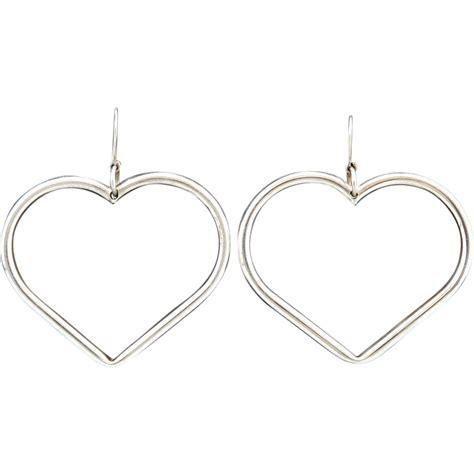 Sterling Silver Hoop Earring large sterling silver hoop earrings from