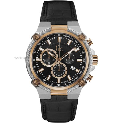 Gc Cronograph Leather s gc cable chronograph y24005g2