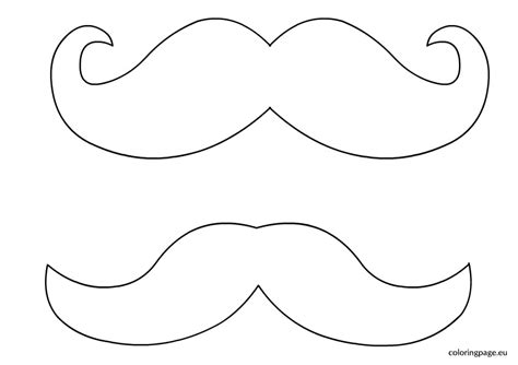beard template printable best photos of print mustache template mustache template