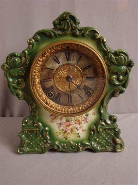 ansonia radius floral porcelain mantel clock price guide