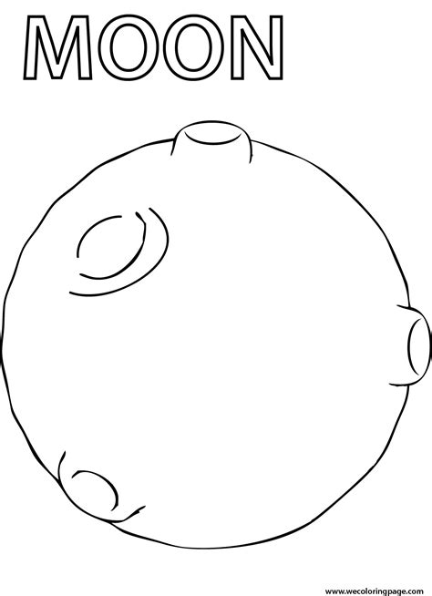 preschool coloring pages moon moon coloring page wecoloringpage
