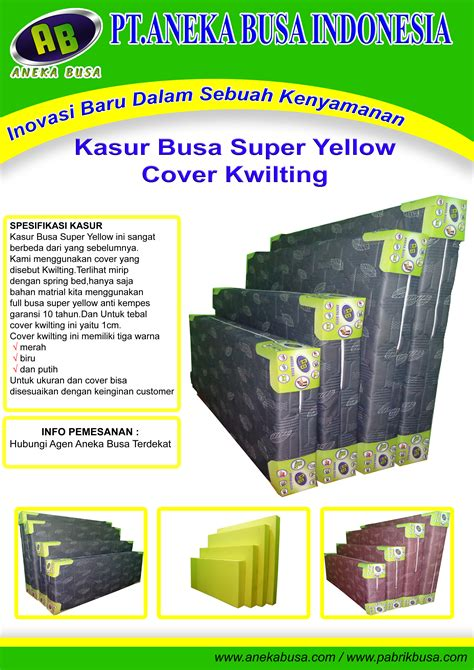 Kasur Busa Yellow Vita pt aneka busa indonesia pt aneka busa indonesia agen
