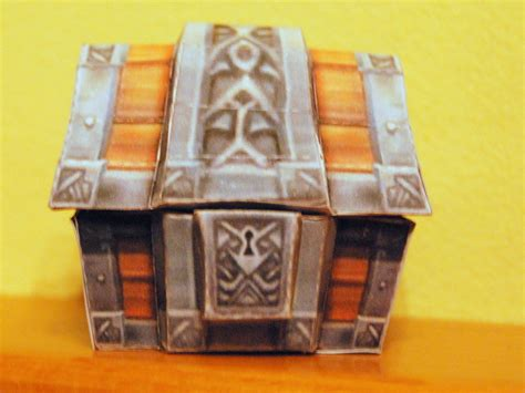 Treasure Chest Papercraft - treasure chest by inmortalmind on deviantart