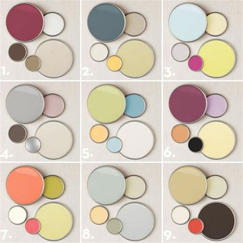 9 designer chosen paint color palettes for adding subtle pops of color each palette has paint