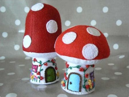 felt toadstool pattern toadstool cottage and mushroom house free pattern and