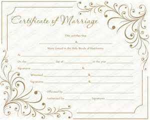 Free Marriage Certificate Template by Free Printable Marriage Certificate Templates Editable