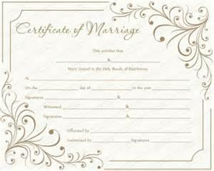 Wedding Certificate Templates Free Printable by Free Printable Marriage Certificate Templates Editable
