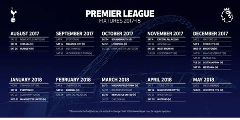 arsenal fixtures full 2017 18 premier league fixtures for arsenal