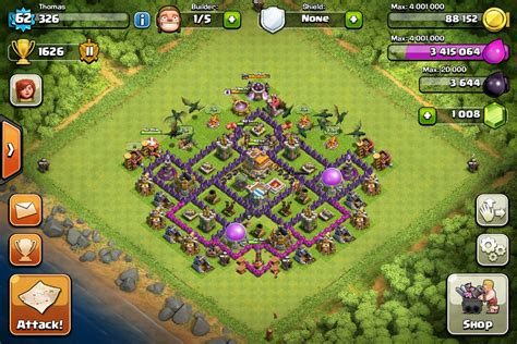 coc layout hybrid clash of clans town hall level 7 defense hybrid www