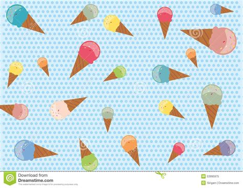 seamless pattern ice seamless pattern with colorful ice cream cones stock