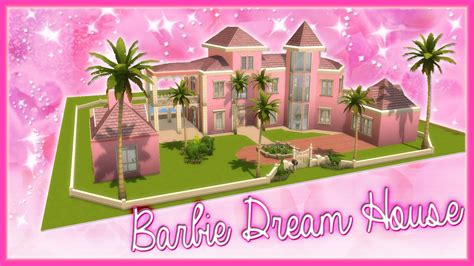 youtube barbie dream house the sims 4 speed builds barbie dream house youtube