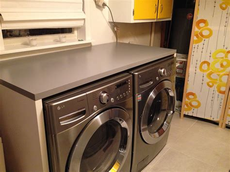 washer dryer cabinet ikea ikea linnmon tabletops to build counter around washer and