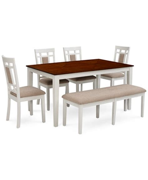6 piece dining room set delran white 6 piece dining room furniture set furniture