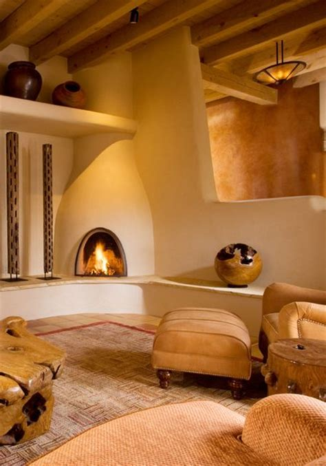 Kiva Style Fireplace by Kiva Fireplace And Plaster Walls Fireplaces