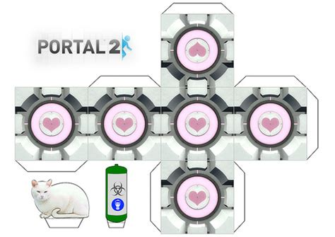 Companion Cube Papercraft - portal 2 companion cube flickr photo