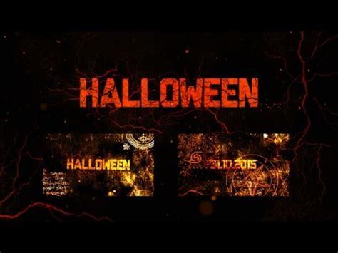 template after effects halloween halloween hard intro after effects template youtube