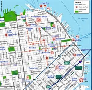 Map Of Downtown San Francisco by San Francisco Tourist Map Downtown