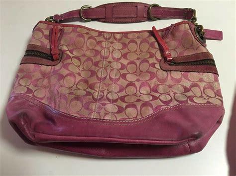 Coach Bag Pink by Coach Pink Tie Dye Signature C Shoulder Tote Bag Purse Handbag Ebay