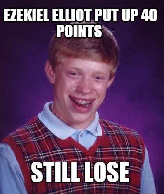 Who Still Up Meme - meme creator ezekiel elliot put up 40 points still lose