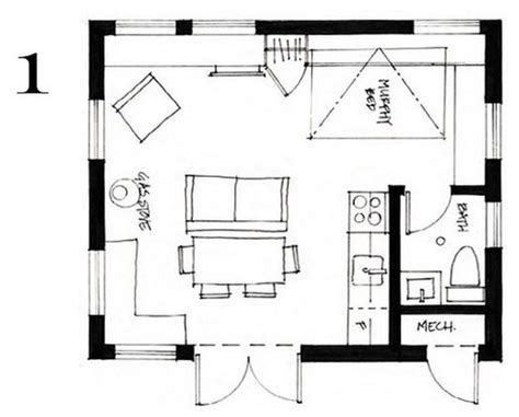 400 square foot house floor plans 400 sq ft small cottage by smallworks studios