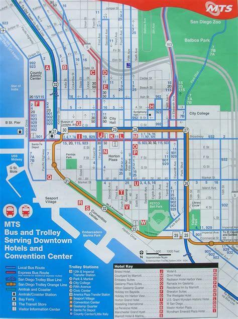 san diego trolley map sentum rutekart san diego buss og trikk the trolley san diego zoo map downtown san