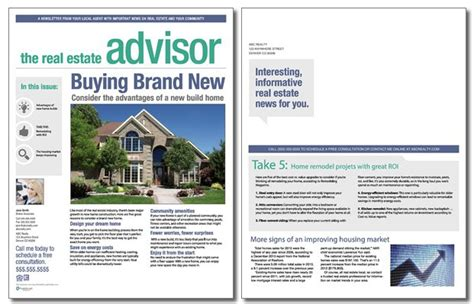 real estate advisor newsletter template volume 3 issue 2