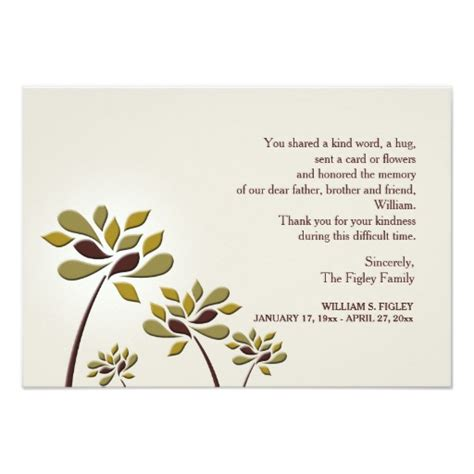 thank you letter sympathy gift mournful sympathy thank you card zazzle