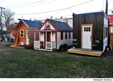 miniature homes tiny house movement spawns whole communities of mini homes