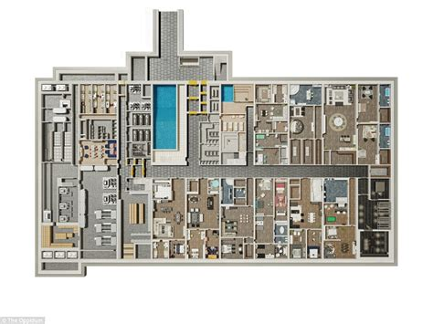 Apartment Complex Floor Plans inside the apocalypse shelter carved deep into a czech