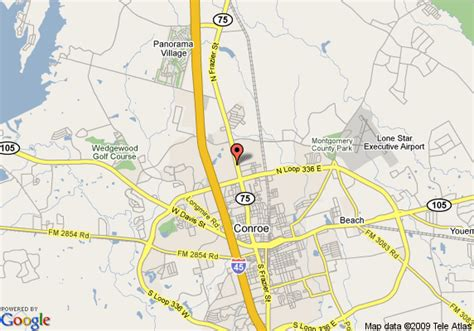 map conroe texas map of inn express conroe conroe