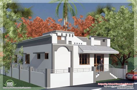 Tamilnadu style single floor house in 1092 sq.feet Kerala home design and floor plans