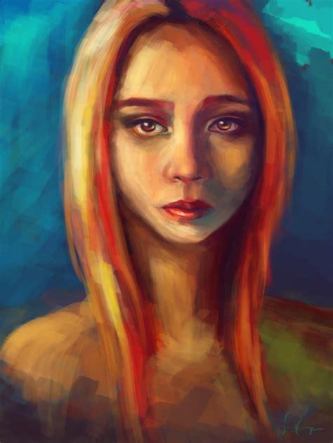 portrait painting self portrait painting by lemerie on deviantart