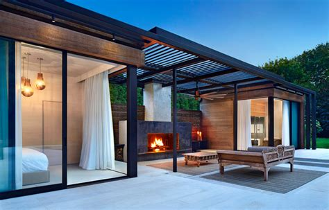 Shed Home Plans by A Contemporary Pool House In The Hamptons Contemporist