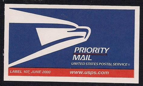 Us Post Office Priority Mail by Usps Priority Mail Stickers Label 107 St Community