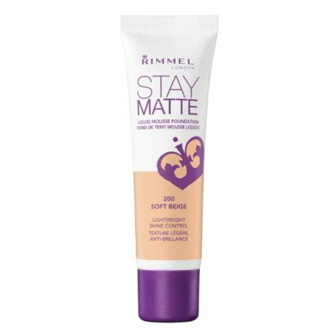 Rimmel Stay Matte Foundation rimmel stay matte liquid mousse foundation choose